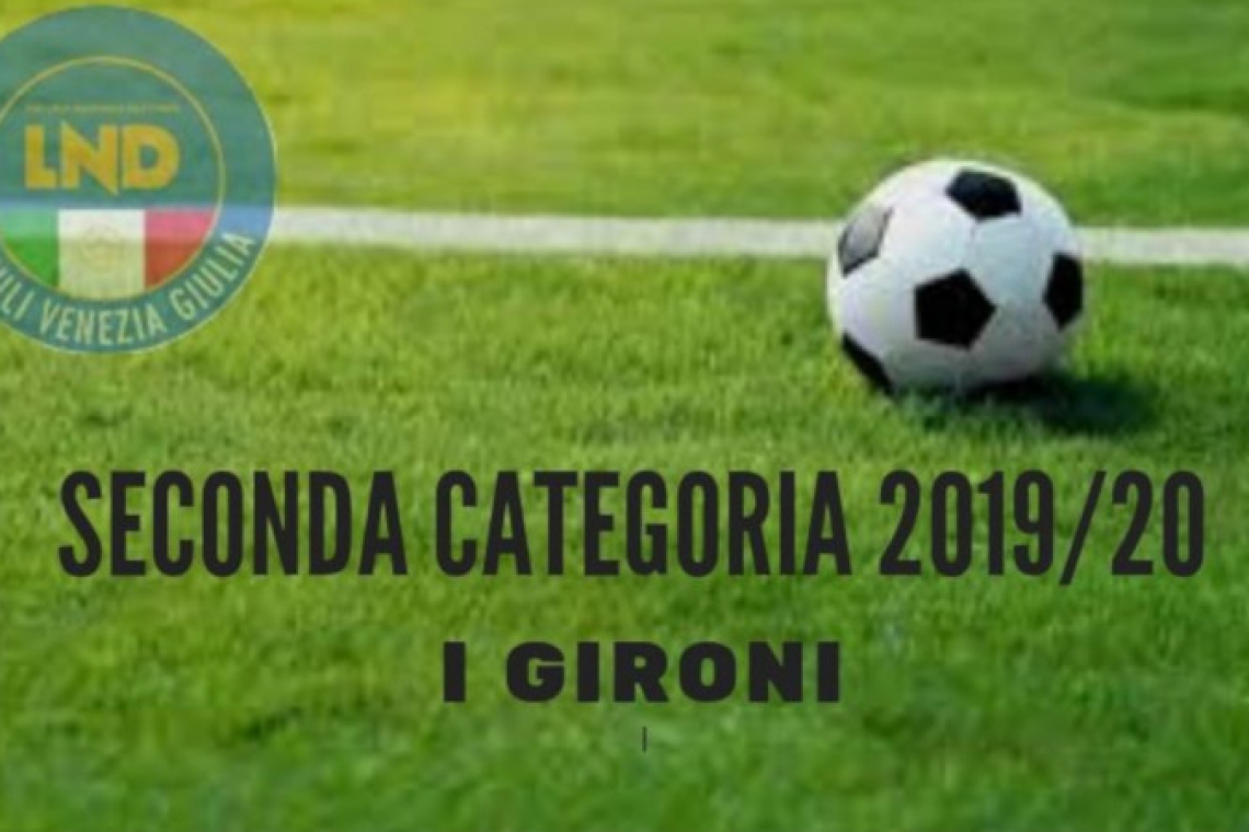 SECONDA CATEGORIA: QUESTI I 4 GIRONI DI CAMPIONATO